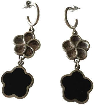 Christofle Black Silver Earrings