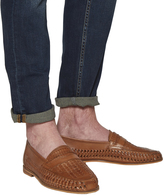 Office Bow Weave Slip On Loafers