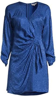 Parker Linda Print Silk-Blend Wrap Dress