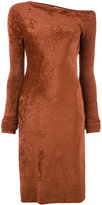Helmut Lang Velveteen dress - women - Polyamide/Viscose - XS