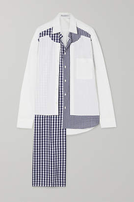 J.W.Anderson Asymmetric Paneled Cotton-poplin Shirt - White