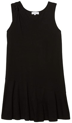 Michael Stars Kirsty Cotton Modal Tank Dress w/ Twisted Strap (Black) Women's Clothing
