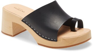 Swedish Hasbeens Toe Strap Slide Sandal