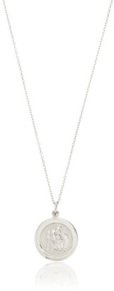 Lily & Roo Small Sterling Silver St Christopher Charm Necklace