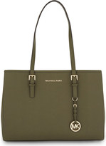 MICHAEL Michael Kors Jet Set Travel large leather tote
