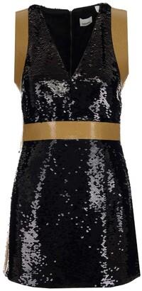 Burberry Tape Detail Sequinned Mini Dress