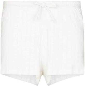 Leset Pointelle Pinstripe Cotton Shorts