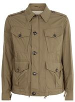 Burberry Check Detail Field Jacket