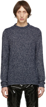 Acne Studios Blue and White High Neck Sweater
