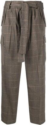 Liu Jo Plaid-Check Trousers