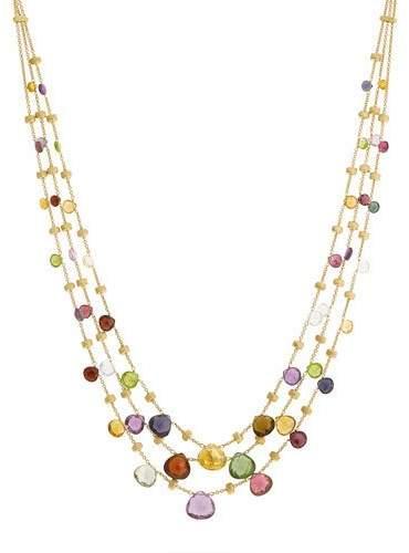 Marco Bicego Paradise Graduated Three-Strand Necklace