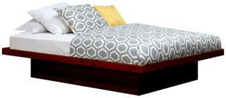 Gothic Furniture Full Size Platform Bed, Pine Wood, Antique Cherry