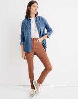 "Madewell 10"" High-Rise Skinny Jeans: Garment-Dyed TENCEL Denim Edition"