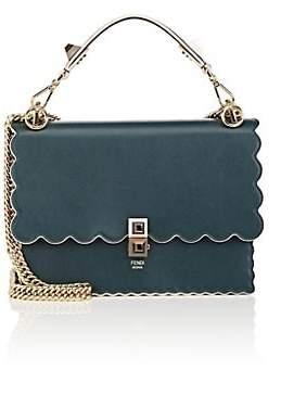 Fendi Women's Kan I Leather Shoulder Bag - Amazone Green