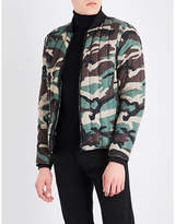 Sandro Camouflage-patterned Shell-down Bomber Jacket