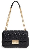 MICHAEL Michael Kors Large Sloan Quilted Lambskin Leather Shoulder Bag - Black