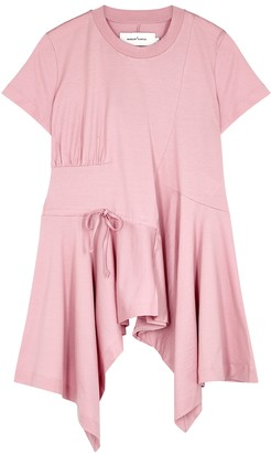 Marques Almeida Pink gathered cotton T-shirt
