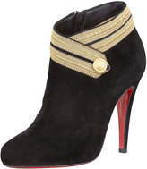 Christian Louboutin Marychal Suede Red Sole Bootie