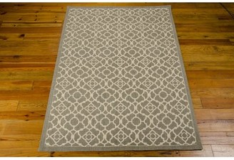 "Waverly Color Motion ""Lovely Lattice"" Dark Sage Area Rug Rug Size: Rectangle 5' x 7'"