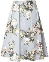Grey Floral Full Skirt