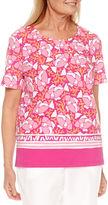 Alfred Dunner Reel It In Short Sleeve Border Print T-Shirt