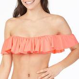 Arizona Off The Shoulder Flounce Swimsuit Top-Juniors