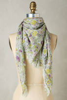 Anthropologie Royal Gardens Square Scarf