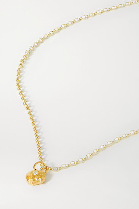 Alighieri A Flash Of Lightning Gold-plated Diamond Necklace - one size