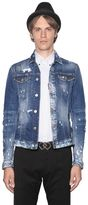 DSQUARED2 Stretch Distressed Denim Jacket