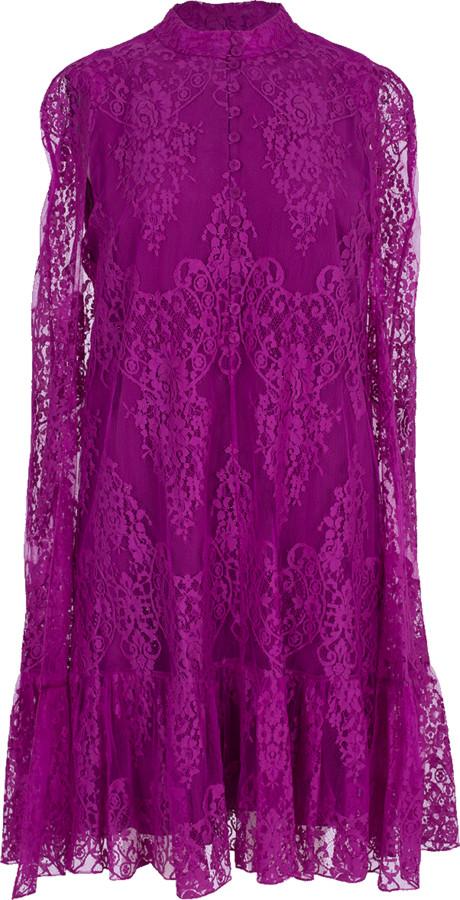 Erdem Constantine Shirt Cape Dress