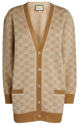 Gucci Interlocking G Intarsia Oversized Cardigan