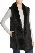 Andrew Marc Long Faux Shearling Vest