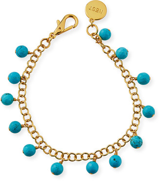 Nest Jewelry Turquoise Charm Anklet
