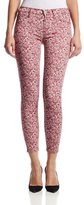 Hudson WMA407TEN Nico Midrise Ankle Super Skinny in Dotted Rose