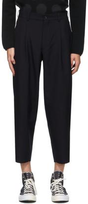 Comme des Garçons Homme Deux Navy Tropical Wool Trousers