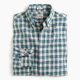 J.Crew Secret Wash shirt in heather poplin plaid