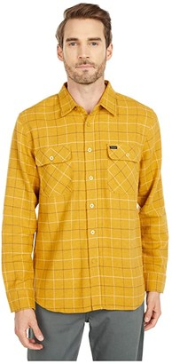 Brixton Bowery Long Sleeve Flannel (Honey) Men's Long Sleeve Button Up