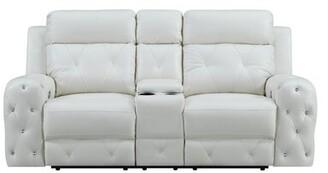 "Mercer41 Lefebvre Reclining 78"" Round Arm Loveseat Upholstery Color: Black"