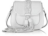 Rebecca Minkoff Isobel Optic White Front Pocket Saddle Bag