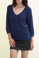 Maude Navy V Neck Sweater