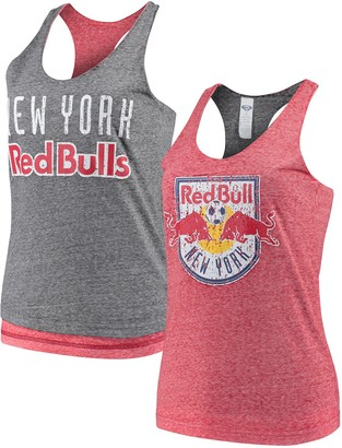 Women's Concepts Sport Red/Charcoal New York Red Bulls Squad Reversible Tank Top