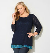 Avenue Abstract Hatchi 2Fer Top