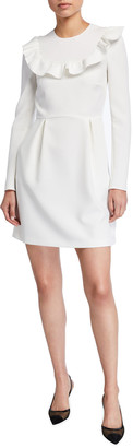 RED Valentino Long-Sleeve Crepe Double Stretch Dress