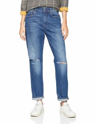 G Star Women's 3301 Saddle Mid Waist Boyfriend Jeans