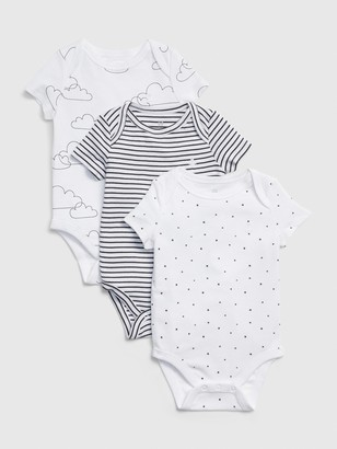 Gap Baby Print Short Sleeve Bodysuit (3-Pack)