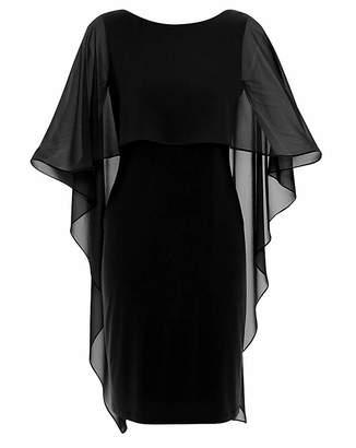 Gina Bacconi Kaisa Chiffon Cape Dress