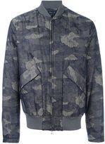 Helmut Lang camouflage print bomber jacket - men - Cotton/Polyamide - S