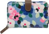 Cath Kidston Large Painted Pansies Folded Zip Wallet