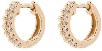 Dana Rebecca Designs 14kt gold Poppy Rae diamond huggie earrings