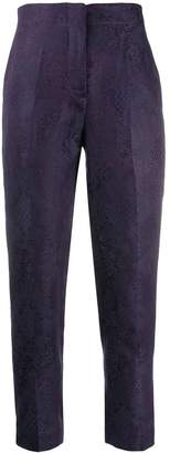 Isabel Benenato cropped patterned trousers